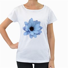 Daisy Flower Floral Plant Summer Women s Loose-Fit T-Shirt (White)