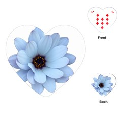 Daisy Flower Floral Plant Summer Playing Cards (heart)