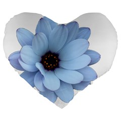 Daisy Flower Floral Plant Summer Large 19  Premium Heart Shape Cushions