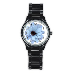 Daisy Flower Floral Plant Summer Stainless Steel Round Watch