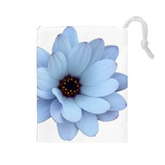 Daisy Flower Floral Plant Summer Drawstring Pouches (large)