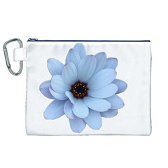 Daisy Flower Floral Plant Summer Canvas Cosmetic Bag (XL)