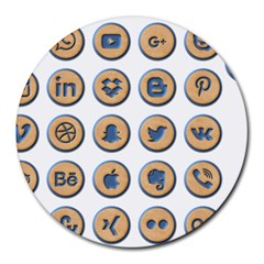 Social Media Icon Icons Social Round Mousepads