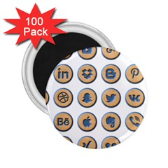 Social Media Icon Icons Social 2 25  Magnets (100 Pack)