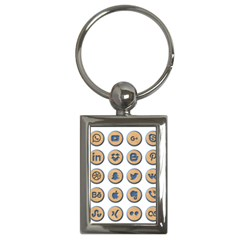 Social Media Icon Icons Social Key Chains (rectangle)