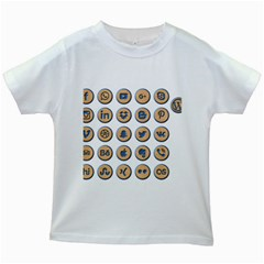 Social Media Icon Icons Social Kids White T Shirts