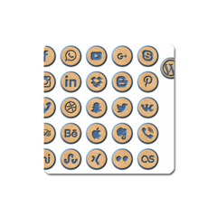 Social Media Icon Icons Social Square Magnet