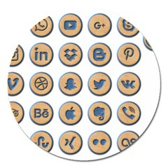 Social Media Icon Icons Social Magnet 5  (round)