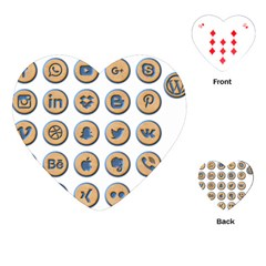 Social Media Icon Icons Social Playing Cards (heart)
