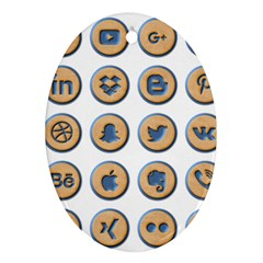 Social Media Icon Icons Social Oval Ornament (Two Sides)