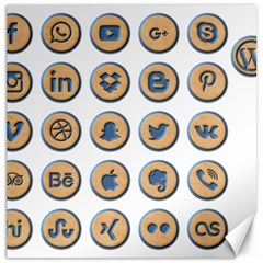 Social Media Icon Icons Social Canvas 12  x 12