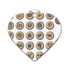Social Media Icon Icons Social Dog Tag Heart (two Sides)
