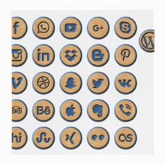 Social Media Icon Icons Social Medium Glasses Cloth (2 Side)