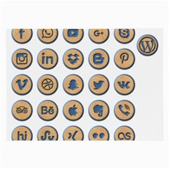 Social Media Icon Icons Social Large Glasses Cloth (2-Side)