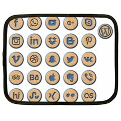 Social Media Icon Icons Social Netbook Case (large)