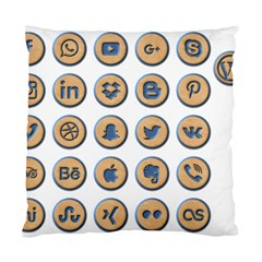 Social Media Icon Icons Social Standard Cushion Case (two Sides)