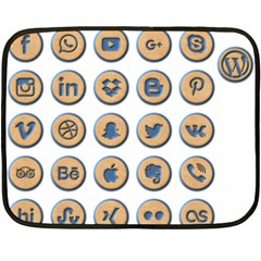 Social Media Icon Icons Social Double Sided Fleece Blanket (mini)