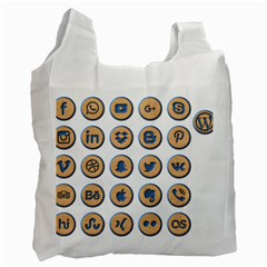 Social Media Icon Icons Social Recycle Bag (one Side)