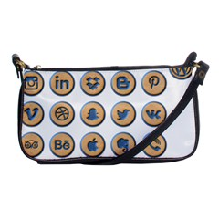 Social Media Icon Icons Social Shoulder Clutch Bags
