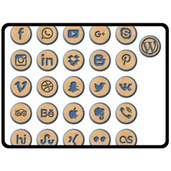 Social Media Icon Icons Social Fleece Blanket (Large)