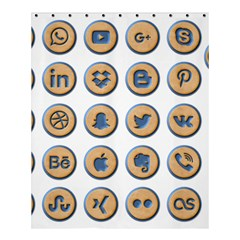 Social Media Icon Icons Social Shower Curtain 60  X 72  (medium)