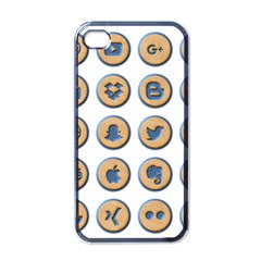 Social Media Icon Icons Social Apple iPhone 4 Case (Black)