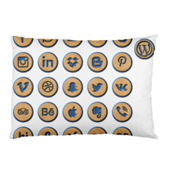 Social Media Icon Icons Social Pillow Case (Two Sides)