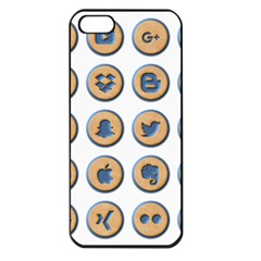 Social Media Icon Icons Social Apple Iphone 5 Seamless Case (black)