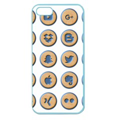 Social Media Icon Icons Social Apple Seamless Iphone 5 Case (color)