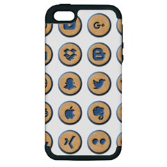 Social Media Icon Icons Social Apple Iphone 5 Hardshell Case (pc+silicone)