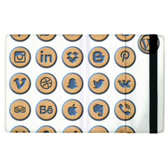 Social Media Icon Icons Social Apple Ipad 2 Flip Case