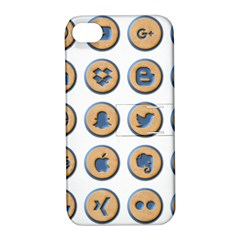 Social Media Icon Icons Social Apple Iphone 4/4s Hardshell Case With Stand