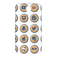 Social Media Icon Icons Social Samsung Galaxy S4 I9500/I9505 Hardshell Case