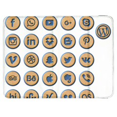 Social Media Icon Icons Social Samsung Galaxy Tab 7  P1000 Flip Case