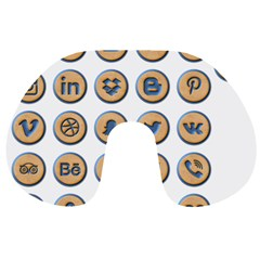 Social Media Icon Icons Social Travel Neck Pillows