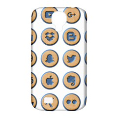 Social Media Icon Icons Social Samsung Galaxy S4 Classic Hardshell Case (pc+silicone)