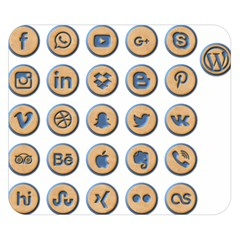 Social Media Icon Icons Social Double Sided Flano Blanket (small)
