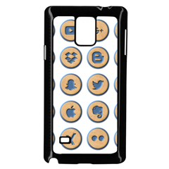 Social Media Icon Icons Social Samsung Galaxy Note 4 Case (black)