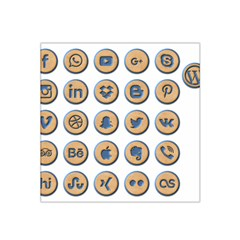 Social Media Icon Icons Social Satin Bandana Scarf