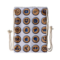 Social Media Icon Icons Social Drawstring Bag (small)