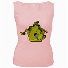 Bluebird Bird Birdhouse Avian Women s Pink Tank Top