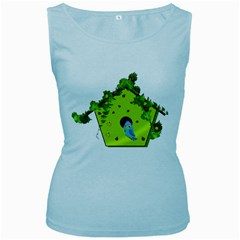 Bluebird Bird Birdhouse Avian Women s Baby Blue Tank Top