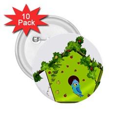 Bluebird Bird Birdhouse Avian 2 25  Buttons (10 Pack)