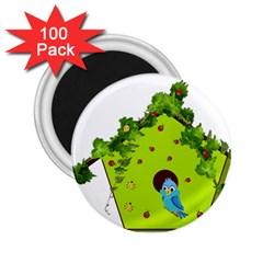 Bluebird Bird Birdhouse Avian 2 25  Magnets (100 Pack)