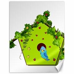 Bluebird Bird Birdhouse Avian Canvas 18  x 24