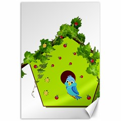 Bluebird Bird Birdhouse Avian Canvas 20  x 30