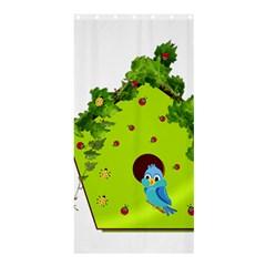 Bluebird Bird Birdhouse Avian Shower Curtain 36  x 72  (Stall)