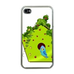 Bluebird Bird Birdhouse Avian Apple Iphone 4 Case (clear)