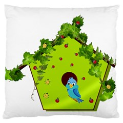 Bluebird Bird Birdhouse Avian Large Cushion Case (two Sides)