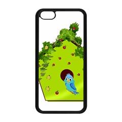Bluebird Bird Birdhouse Avian Apple Iphone 5c Seamless Case (black)